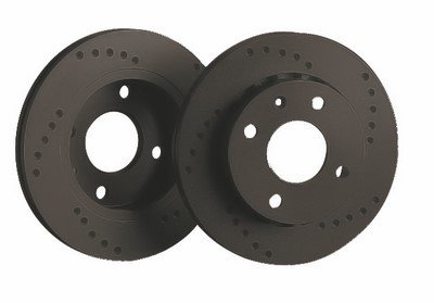 DISCS BLACK DIAMOND PERFORADO TOYOTA CAMRY (91-96) 2.2 16V (SVX10)(ESTATE)(275MM