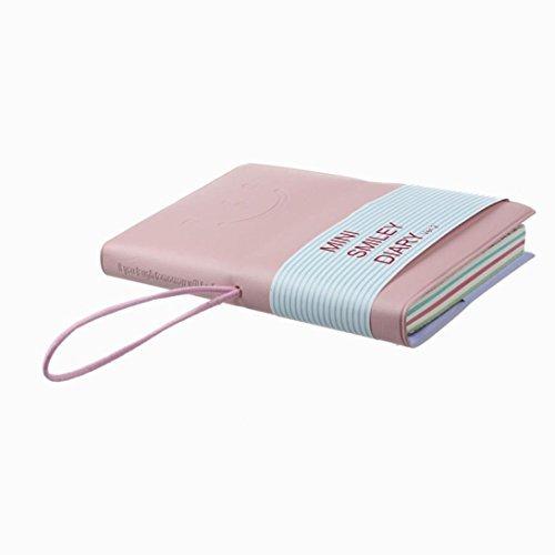 BeautyLife - Agendina in stile classico, bloc-notes, taccuino, quaderno, modello Mini Smiley Diary b