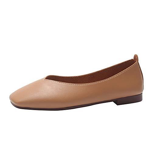 Scarpe da Donna con Bocca Bassa Vendita Punta Quadrata Sandali Casual Scarpe Antiscivolo Eleganti Scarpe da Lavoro Comode per Donne/Ragazze di Kinlene