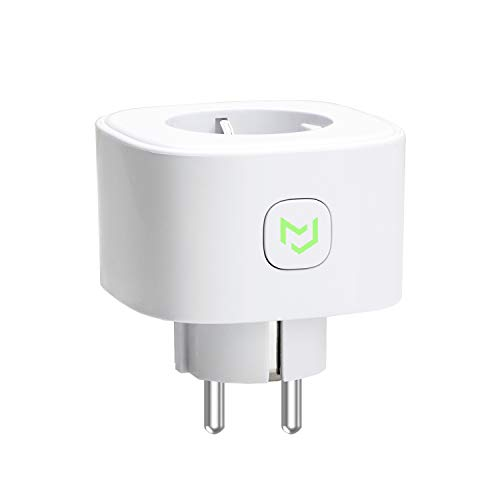 meross Presa Intelligente Wifi Smart Plug Spina Wireless 16A 3680W, Funzione Timer, Compatible con Amazon Alexa, Google Assistant e IFTTT, Controllo Remoto via Andriod iOS App