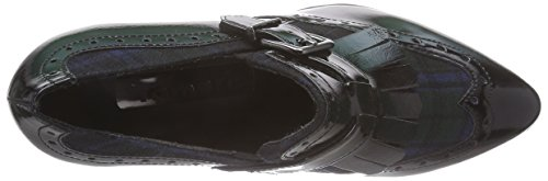 Tamaris 24408 Damen Slipper Mehrfarbig (Black Pat.Comb 070)