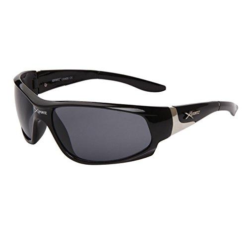 lunettes de soleil sport cyclisme vélo vtt homme femme mixte XS560 (monture gun verres marron, largeur:140mm hauteur:38mm)