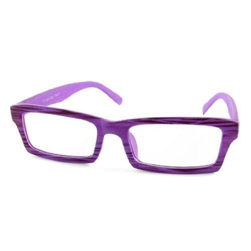 1021 Viola legno Full Rim-Occhiali da sole, lenti rettangolari occhiali