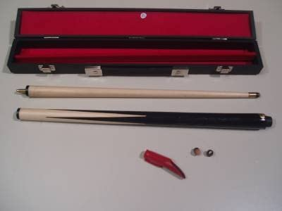 Taco de billar de 91 cm y 2 piezas con funda