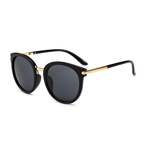 CFLFDC Sonnenbrillen Männer, Die Sonnenbrillen Polarisierte Gläser Damen Sportgläser Angeln Golf-brille Schwarz-gerahmte schwarzgraue Scheiben