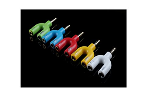 Goldschmetterling @ 2 PCS 3.5mm Adapter Dual 3.5mm Kopfhörer-Mikrofon-kombinierter Audio-Adapter-Unterstützung Einzelnes Loch Hotebook (außer ASUS) und die beträchtliche Majorität der intelligenten Telefone auf dem Markt wie Apple, HTC, Samsung, Huawei, Hirse, LG, Motorola, SONY und so kann verwendet werden, kann das US-Standard-Modell verwendet werden (Color Random)