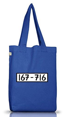Shirtstreet24, PANZERKNACKER, JGA Karneval Fasching Kostüm Jutebeutel Stoff Tasche Earth Positive, Größe: onesize,Bright Blue