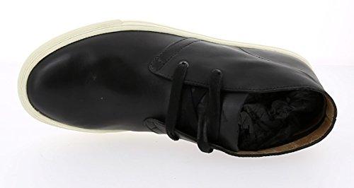 POLO RALPH LAUREN JOPLIN black scarpe uomo sneakers mid pelle Nero