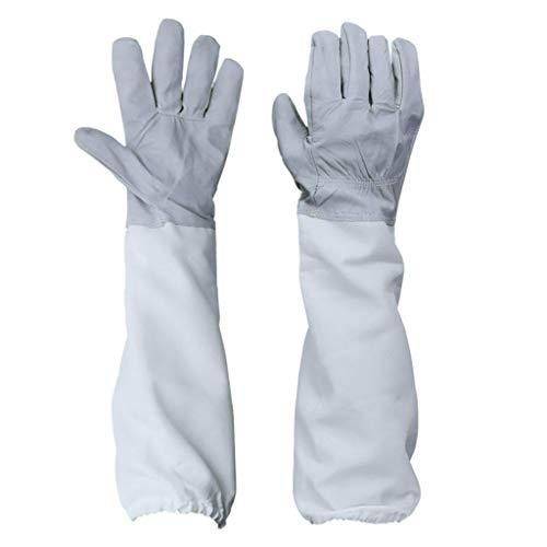 Einfache Imkerei Produkt Einfarbig Bienenschutz Handschuh Farbe Imker Ausstattung Schutz Imkerhandschuhe Imker-Handschuhe FüR Den Einsteiger Beekeeper Wasserdicht Imkereigeräte (47.5x15.5cm, Grau)