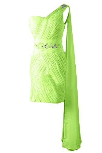 Sunvary elegante Chiffon Bateau A-Line-Maglia A maniche corte, per damigella d'onore Abito per feste Viola