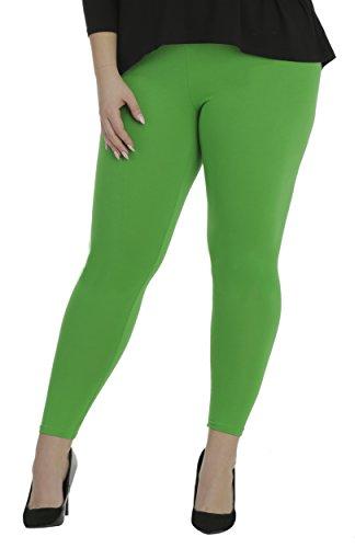 BeLady Damen Leggings Knöchellang aus Baumwolle Blickdichte Leggins Viele Farben (Grün, S - 36)