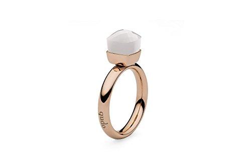 """Qudo""""Firenze"""" rose Ring mit weiß farbenem (whigt opal) Stein (56 (17.8))"""