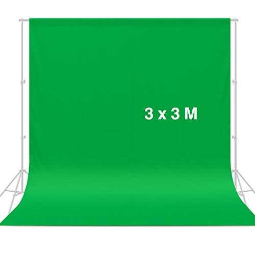 CRAPHY 3 m x 3 m Pantalla de Fondo Verde