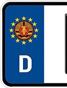 DSF 4 Bike Auto Nummerschild Kennzeichen Plakette Ostalgie DDR-Emblem Aufkleber