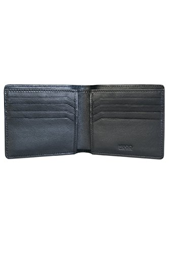 Hugo Textured Leather Homme Gift Set Noir Black