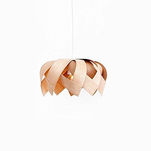 Yndlingsting | Lotus Mini Eiche | Pendelleuchte Holz aus Eichen Furnierholz