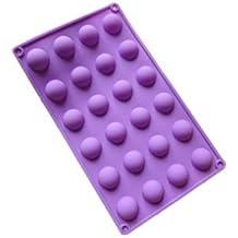 """vasyle silicona molde 24pequeñas (1"""") semi-circle/mitad esferas/balls-cake Cop/bombones"""