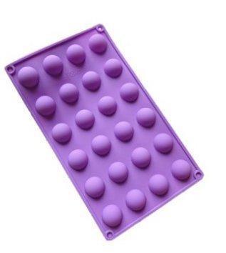 m-g-x silicona molde 24pequeño punzón de mitad esferas balls-cake Pops bombones