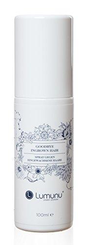 Deluxe Spray gegen eingewachsene Haare Goodbye Ingrown Hair (100ml), pflegend & lindernd bei Hautirritationen und Pickeln