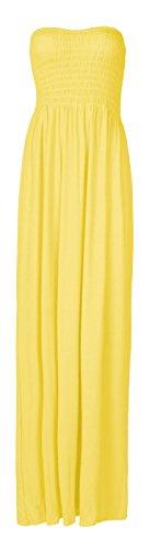 Fast Fashion Damen Maxi Kleid Plus Größe Plain Umführungsvorrichtung Bandeau Damen Fashion Kleid
