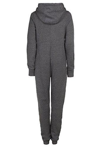 Damen Kuscheliger Jumpsuit | Einteiler aus bequemen Sweat dark grey - 2