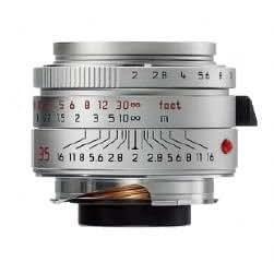 Leica M 35mm F2 Summicron Asph 6-bit Silver Lens 11882