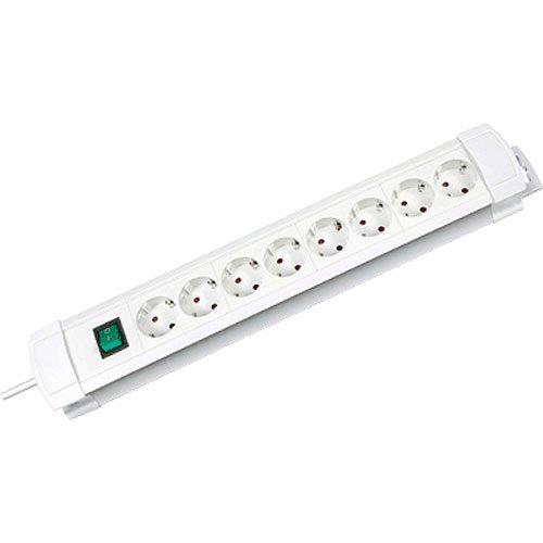 Brennenstuhl 1156220018 Steckdosenleiste Premium-Line 8-fach 3 m H05VV-F 3G1,5, weiß