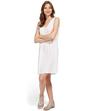 Tom Tailor für Frauen Dress Kleid mit Biesen und Knopfleiste