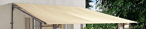 Grasekamp Ersatz-Dach Rollpavillon 3x3m Sand Bezug Plane