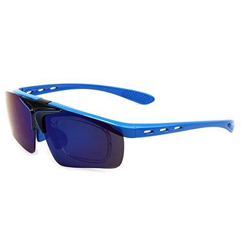 WULE-Sunglasses Unisex Outdoor Reitbrille Bunte Flip Sonnenbrille Sport Parkour Männer und Frauen (Color : 2)