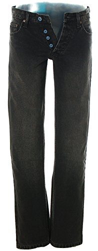 Cliché Herren Jeans Hose Extra Slim Low Used-Washed Black