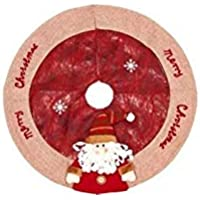 Hermosa decoración navideña Falda del árbol de Navidad Delantal del árbol de Navidad Decoración ...