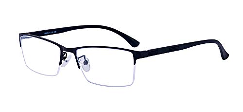 ALWAYSUV Halb Rahmen Rechteckig Linse Optische Stärke Rahmen Brillenfassung Business Brille
