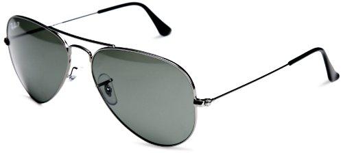 ray-ban-lunettes-de-soleil-mixte-gris-55-mm