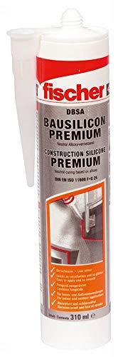 fischer DBSA BR - Premium Bausilicon zur Verwendung bei Anschluss- und Dehnungsfugen im Innen- und Außenbereich, geruchsarme Dichtmasse, braun, 310 ml - 1 Stück - Art.-Nr. 53093