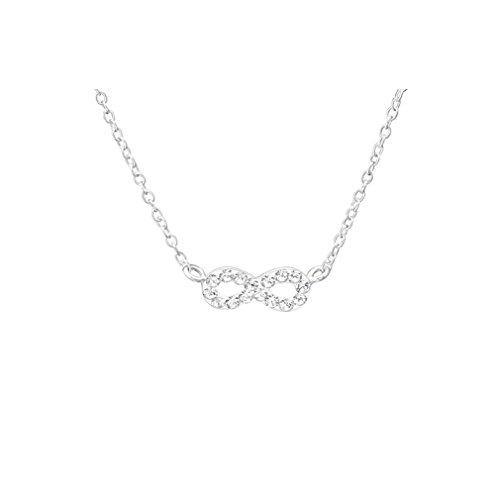 Liara Children's Infinity Jeweled Halskette 925 Sterling Silber.Poliert und Nickelfrei (Halskette Bubble Kids)