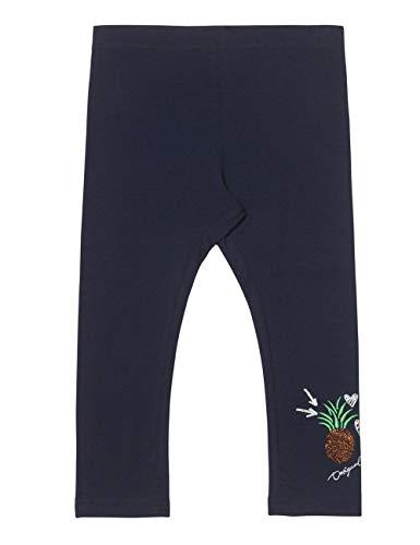 Desigual Mädchen Girl Knit Cross Leggings, Blau (Navy 5000), 128 (Herstellergröße: M) -