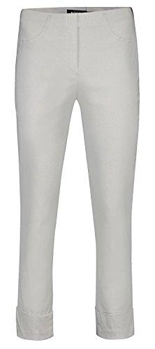Robell Bella Slim Fit 7/8 Schlupfhose Stretchhose Damen Hosen #Bella 09versch.Farben (40, Silber(92)) Bella Capri