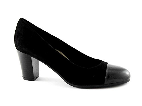 GRUNLAND NIRA SC2070 nero scarpe donna decolletè camoscio 40