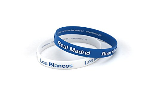 Pulsera Real Madrid Club Fútbol Relieve Azul Blanca