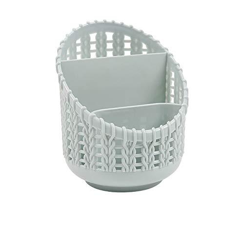 Aufsatz- Makeup Organizer - Makeup Storage Basket Kunststoff Kosmetik-Halter für Badezimmer-Eitelkeit Dresser Desktop Storage Box für Schule Office Home, blau