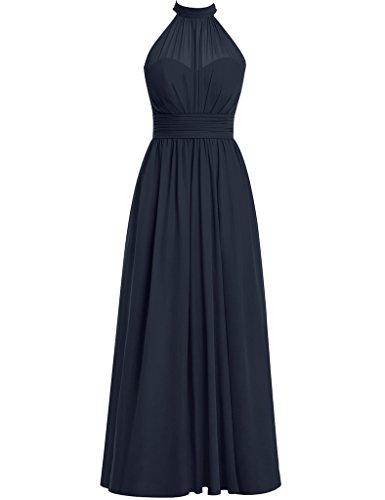 HUINI Damen Modern Kleid Navy