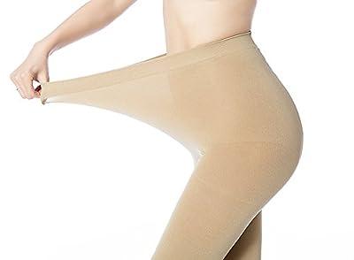 PINKIT Women's Opaque 1 Skin and 1 Black Pantyhose Stocking