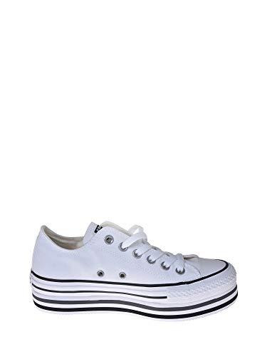 Converse Sneakers Ctas Platform Layer Ox Bianco Nero Grigio 563971C (37 -...