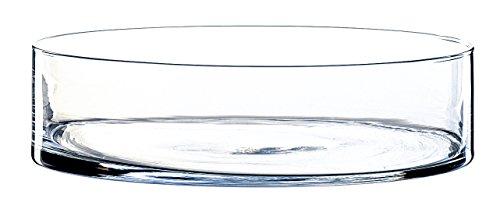 Centre de table / coupe ronde VERA, transparent, 8 cm, Ø 30 cm - Coupelle décorative en verre / Bougeoir rond - INNA Glas