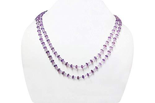 Multi-Strang natürliche Amethyst Perlen Halskette mit Sterling Silberschmuck 16