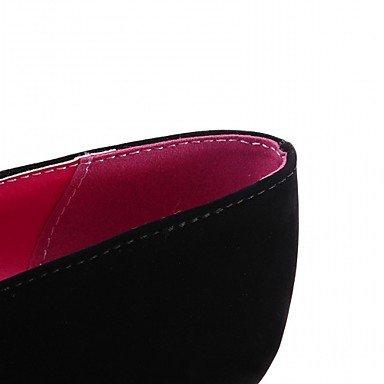 LYNXL Talloni delle donne Primavera Estate Autunno Inverno Dress Comfort novità PU similpelle nozze ufficio & carriera Party & Sera casuale tacco grosso Black