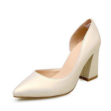LvYuan Da donna-Sandali-Matrimonio Ufficio e lavoro Formale Casual Serata e festa-Club Shoes-Quadrato-Finta pelle-Rosso Beige Argento Silver