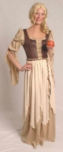 Generique - Mittelalterliches Magd-Kostüm braun-beige (Mittelalterliche Magd Kostüm)