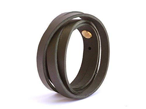 SIMARU Lederarmband Herren aus Premium Leder Made in Germany, Männer Armband größenverstellbar in schwarz, braun oder hellbraun (braun)